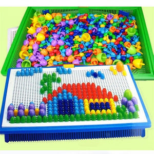 296 Pieces/Set Box-packed Grain Mushroom Nail Beads
