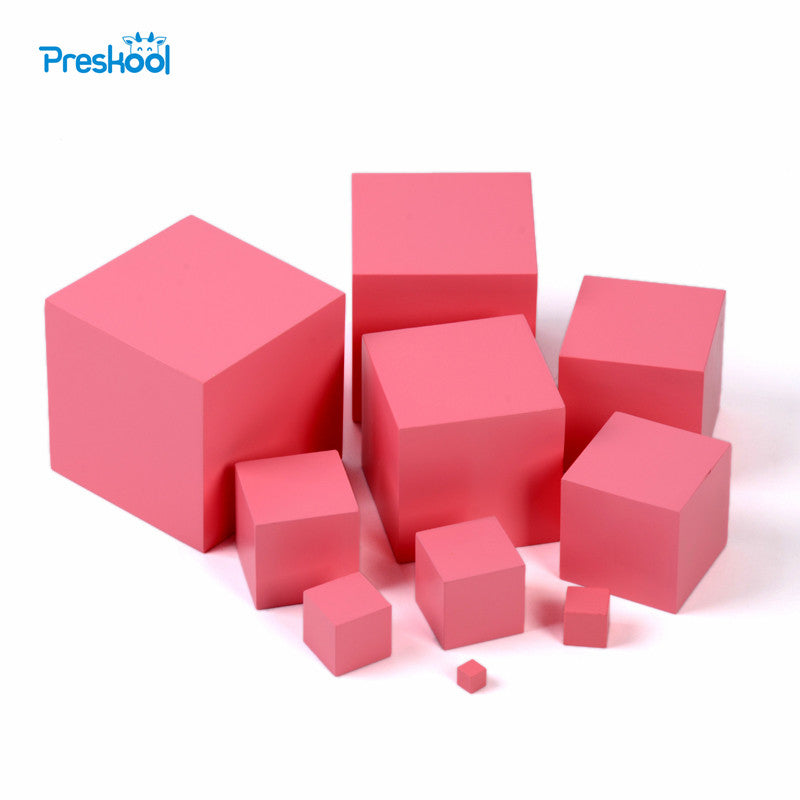 Montessori Professional Pink Tower without Stand  Preschool Kids Toys