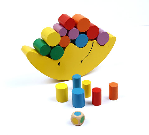 Moon Balancing Frame Baby Early Learning Toy Montessori Teaching Aids Moon Balance Colorful Early Development Wood Blocks Toys