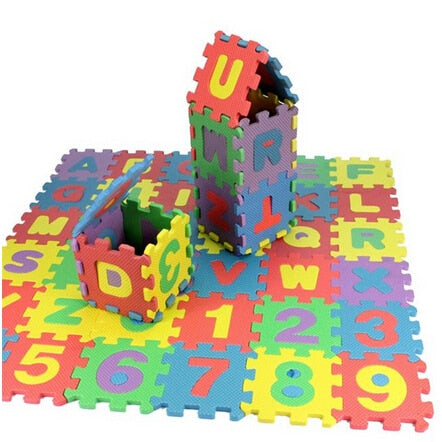 children mini EVA Foam Alphabet Letters Numbers Floor Soft Baby Mat 3d puzzle Kids Educational toys 36 pcs