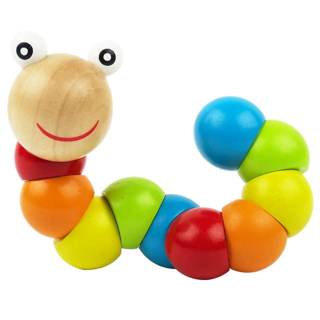 Colorful Wooden Worm Puzzles