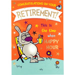 Retirement Card - Congratulations, Happy Hour...