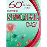 60th Birthday Card - On Your Special Day
