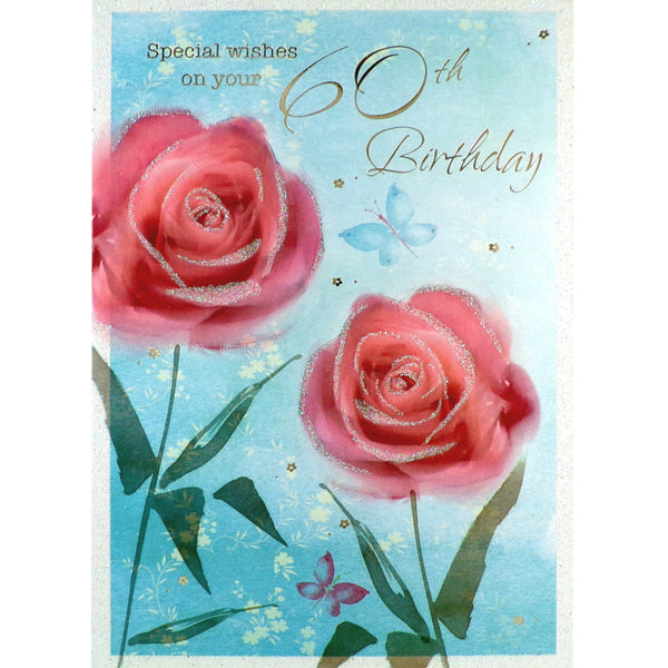 60th Birthday Card - Special Wishes