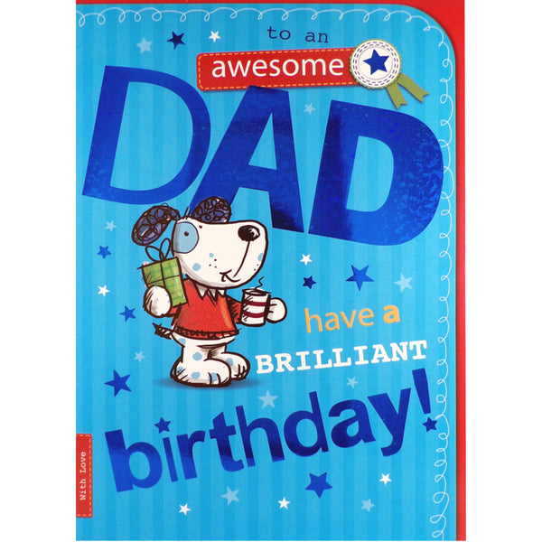 Dad Birthday Card - Have a Brilliant Birthday!