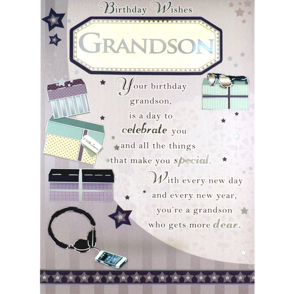 Grandson Birthday Card - Day to Celebrate