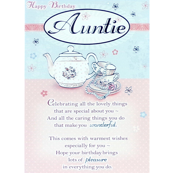 Auntie Birthday Card - Lovely Things