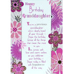 Granddaughter Birthday Card - Warm Wishes