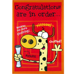 Congratulations Card - Chuffed!