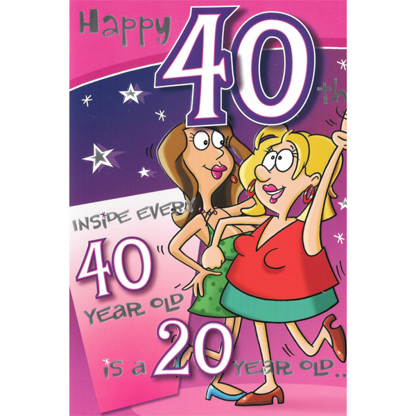 40th Birthday Card - Happy 40th Birthday
