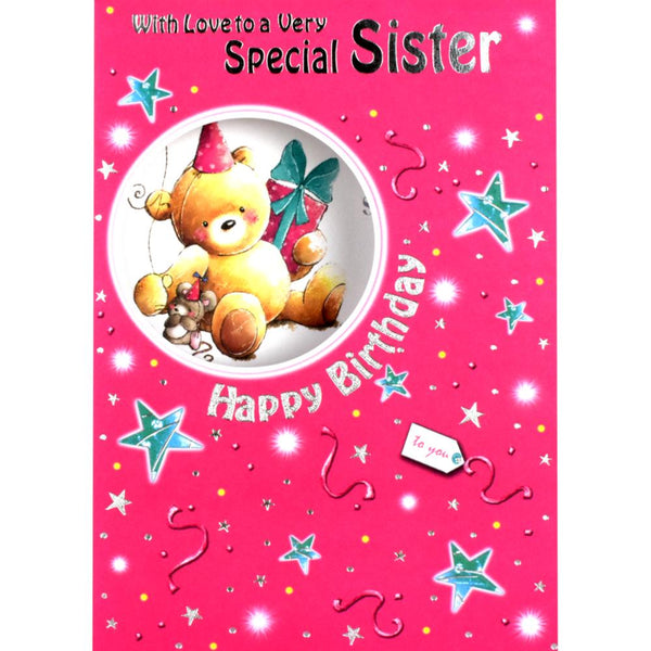 Sister Birthday Card - With Love