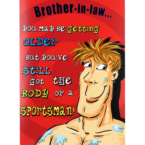 Funny Brother In Law Birthday Card Sportsman Cards Valley