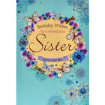 Sister Birthday Card - Wonderful Wishes