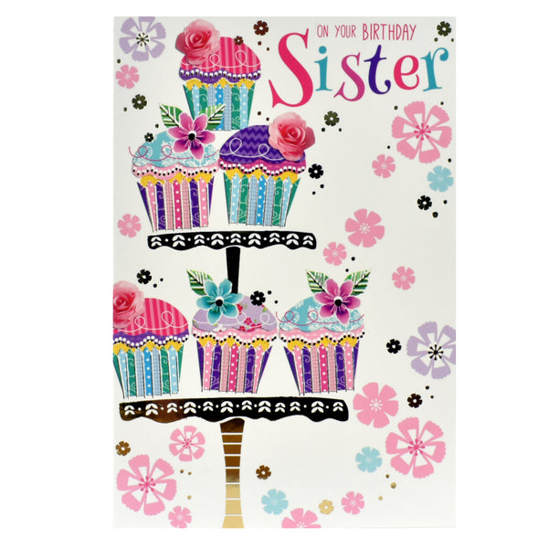 Sister Birthday Card - On Your Birthday