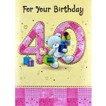 40th Birthday Card - For Your Birthday