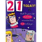 Funny 21st Birthday Card ~ 21 Today!