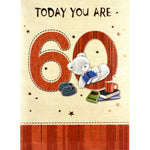 60th Birthday Card - Today You Are 60