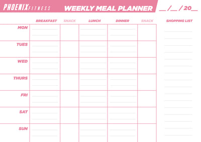 FREE - Weekly Meal Planner Sheets