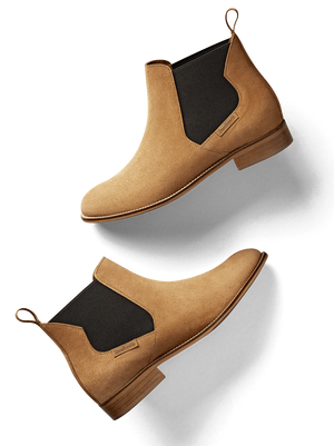 Berkley Tan Suede - Smart, contemporary Chelsea ankle boot.