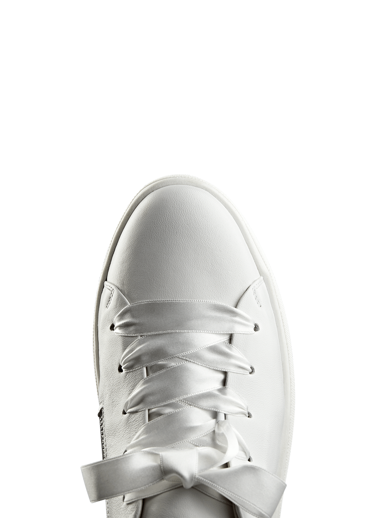 Churston, a flatform trainer with a style choice of either ribbon or cord laces.
