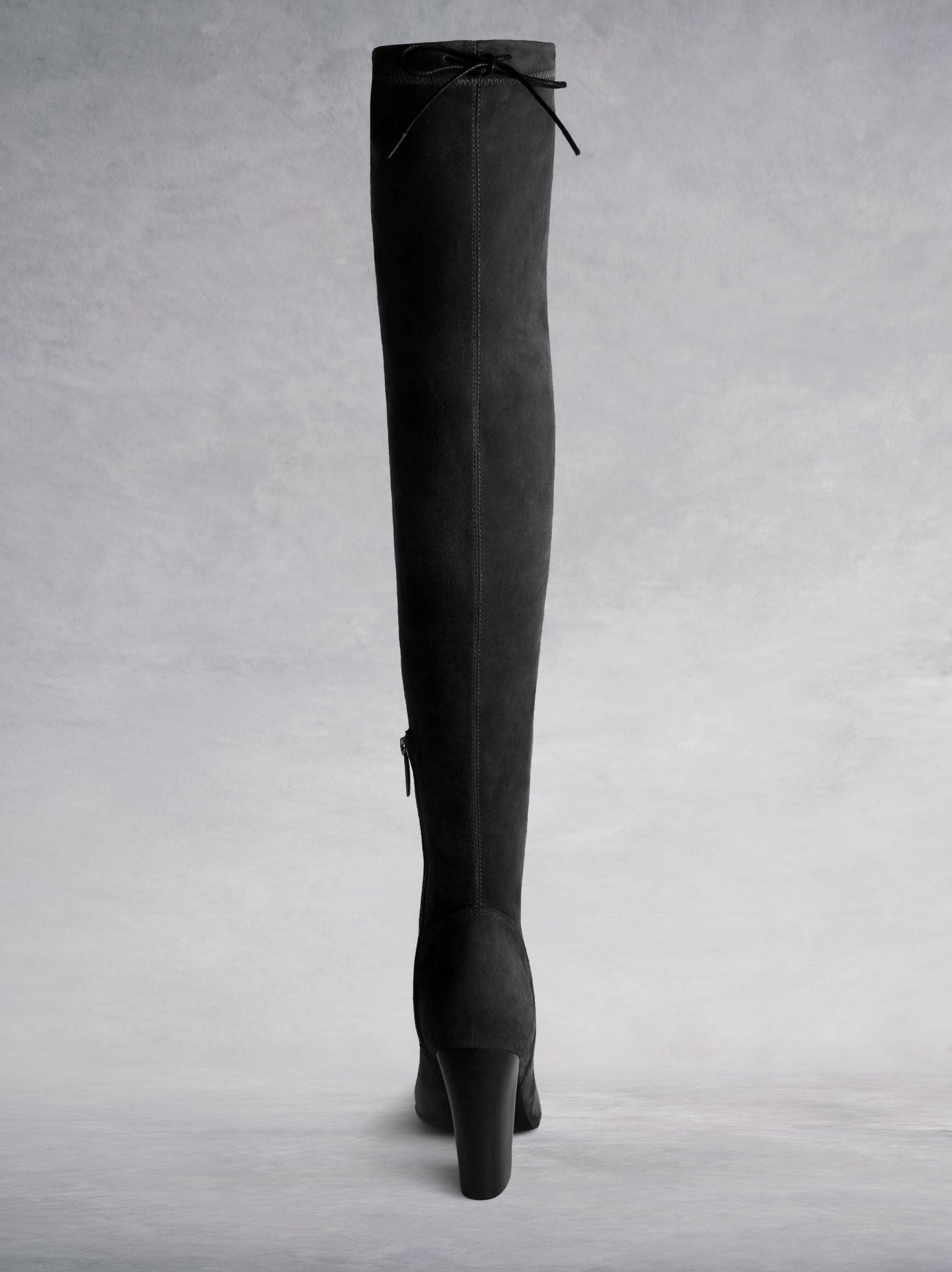 Empress Black Stretch Suede - Over-the-knee stretch suede boots.