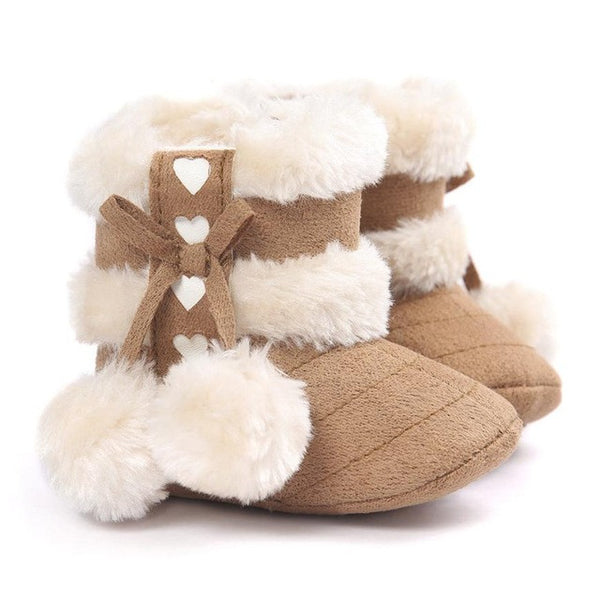 e2b74dbb9d5b Toddler Girls Boots Girls Snow Boots Shoes Fashion kids shoes Baby shoes  Soft Sole Snow Boots