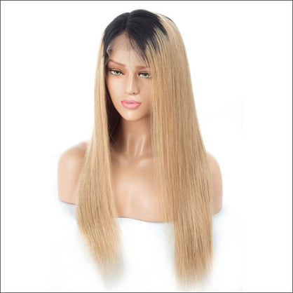 Haircity 18 inch Virgin Brazilian Front Lace Wig - 1B/27 Ombre Lace wig - wig
