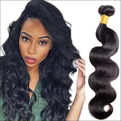 I & K Weave Hair Extensions 22 Color 1B - Body Wave - hair extensions