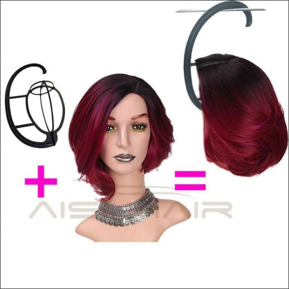 Is a wig 12Long Synthetic Ombre Red Short Hair Wigs for Women False Hair Can Be Cosplay