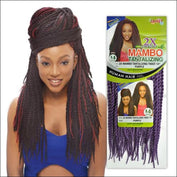 Janet Collection PRE-LOOP CROCHET BRAID - 2X Mambo Tantalizing Twist 18 - 1/Purple - Crochet Braid