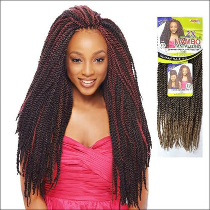 Janet Collection PRE-LOOP CROCHET BRAID - 2X Mambo Tantalizing Twist 18 - T1B/30 - Crochet Braid