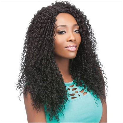 Outre Synthetic L Part Batik Lace Front Wig - CARIBBEAN (B (Off Black)) - simple