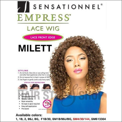 Sensationnel Empress Natural Lace Front Edge Wig - Milett (BUG) - simple