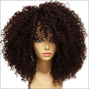 Short Bob Lace Front Human Hair Wigs Afro Kinky Curly Brazilian Remy Hair