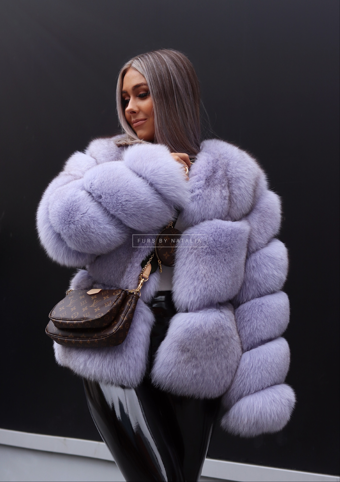 Oval Fox Fur Coat
