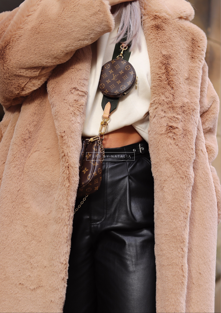 Belted Faux Coat