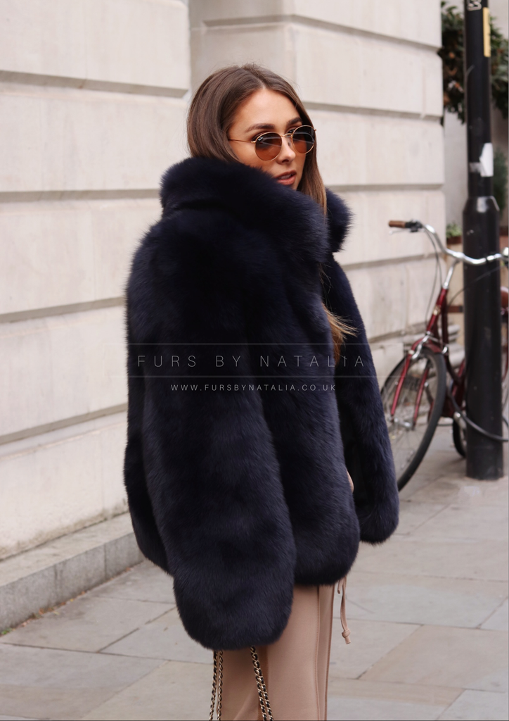 Flat Fox Fur Coat