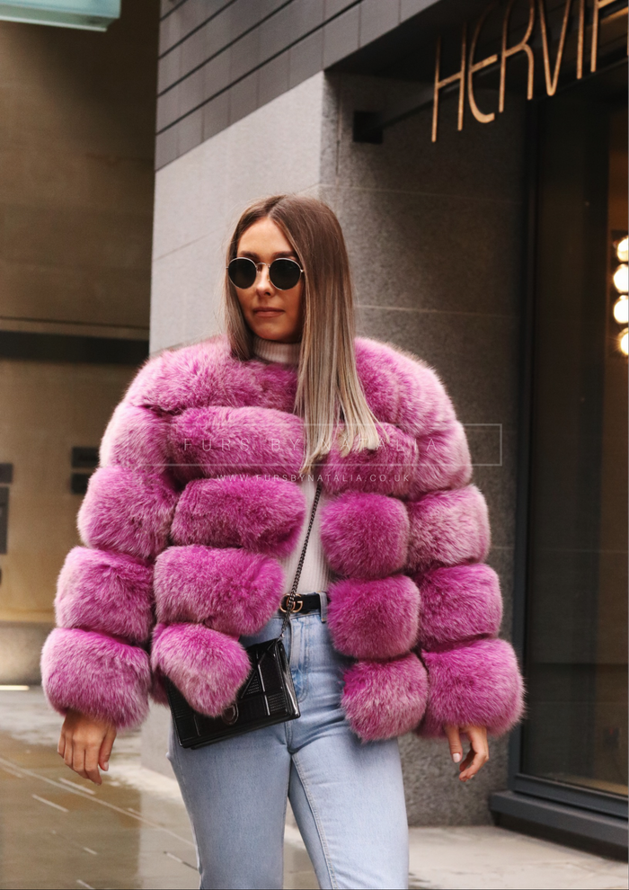 Short Fox Fur Coat