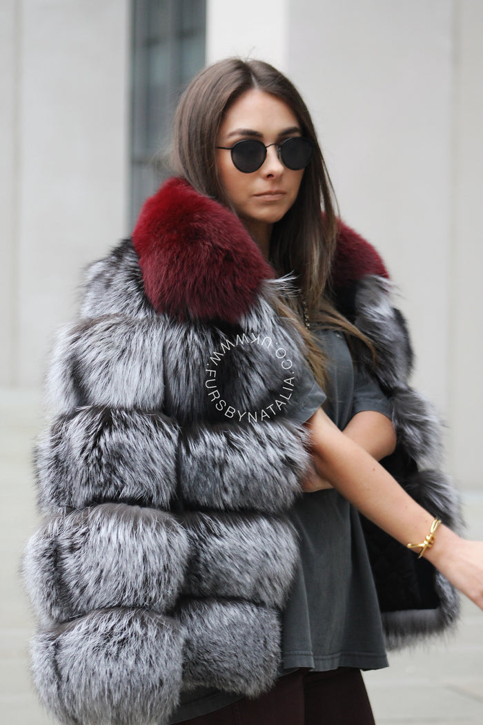Collared Fox Fur Coat