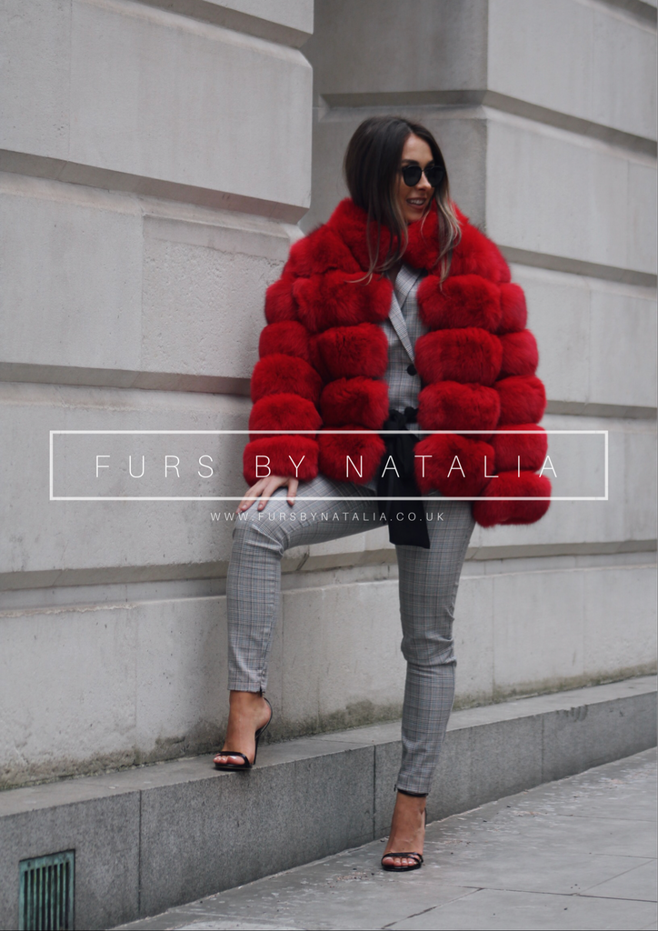Mini Bubble Fox Fur Coat