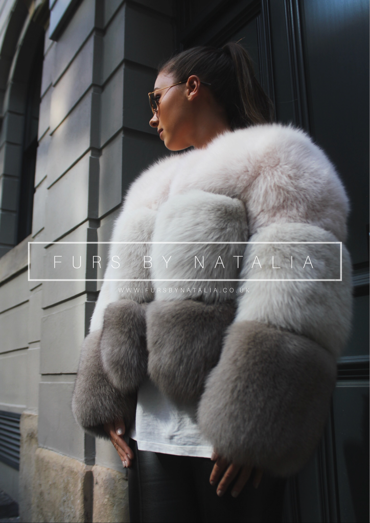 Tri Section Fox Fur Coat