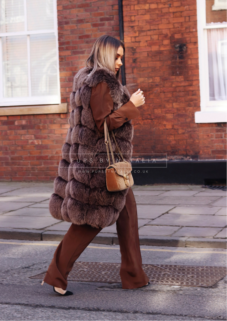 Long Fox Fur Vest