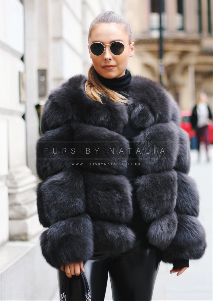 Twist Fox Fur Coat