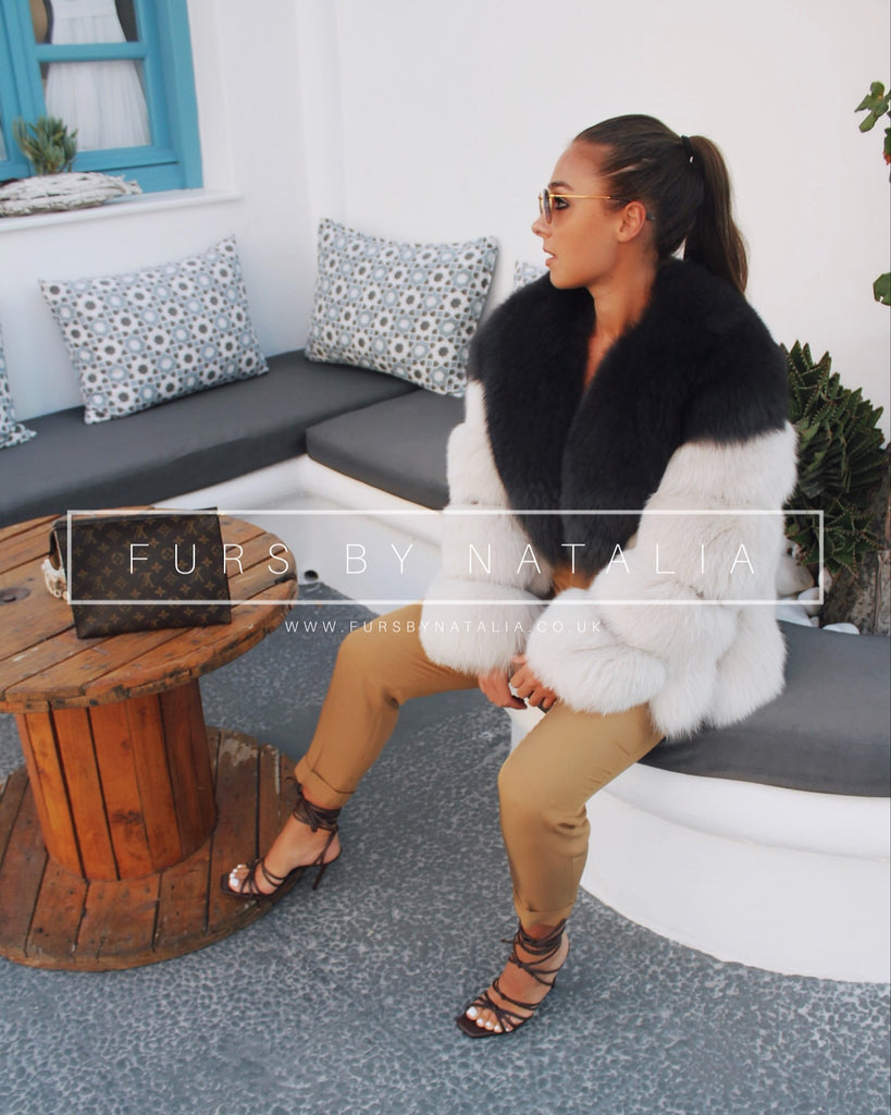 Two Tone Fox Fur Coat