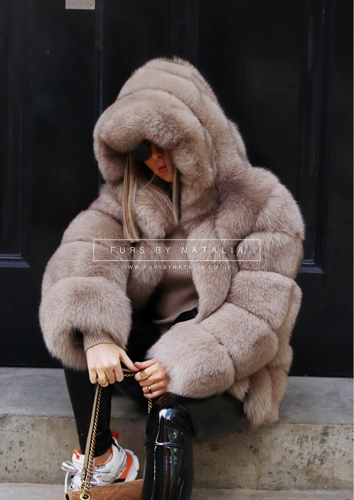 Hooded Classic Fox Fur Coat