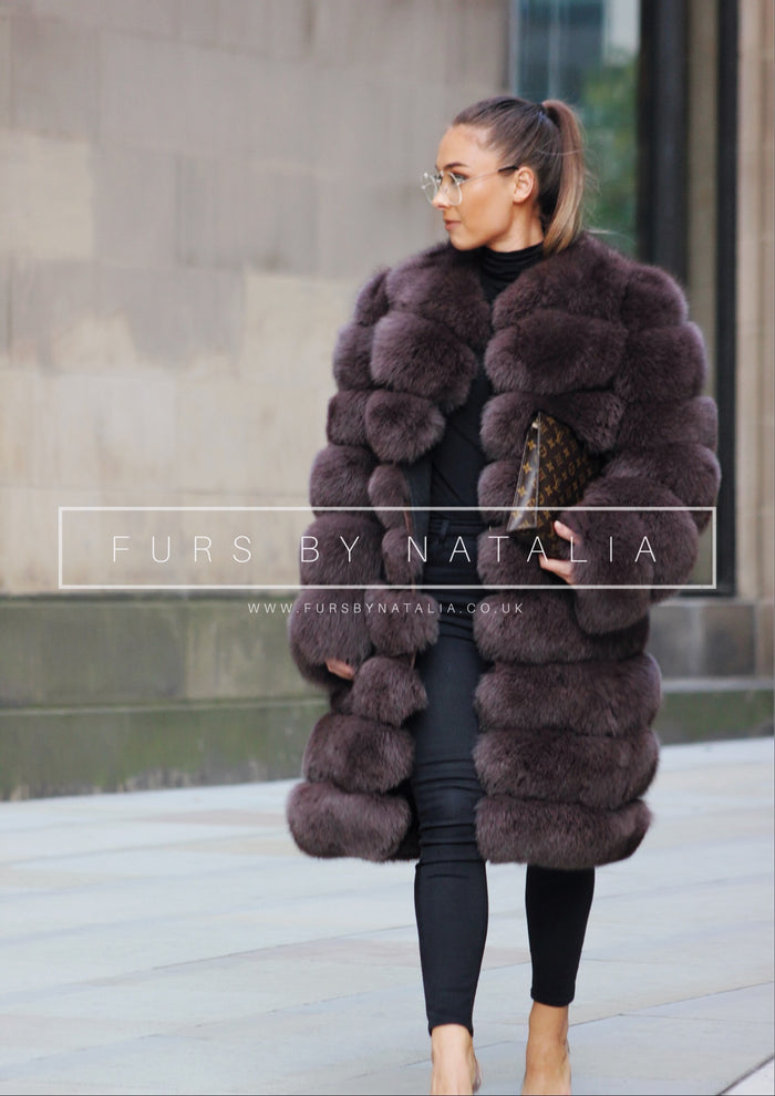 Long Zip Off Fox Fur Coat