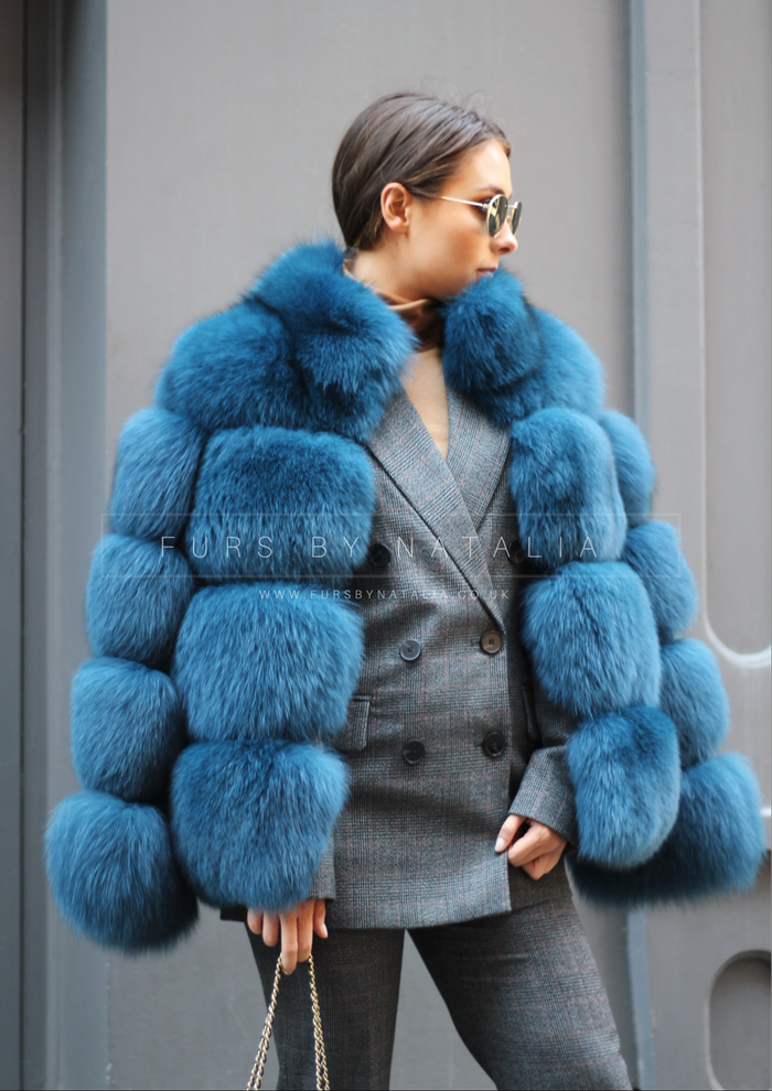 Chunky Fox Fur Coat