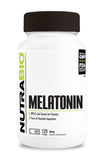 NutraBio Melatonin (3mg) 120 Vegetable Capsules