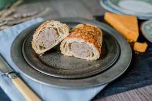 Marmite & Cheese Pork Sausage Roll