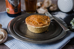 Seasonal Game Pie in a Rich Red Wine Gravy
